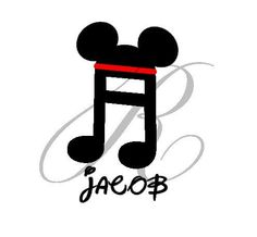 Personalized Disney Minnie Mouse Music Note By RandRCustomDesigns - Disney custom vinyl stickers