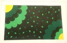 teoría del color patrón de tela fabric pattern flores  flor verde amarillo