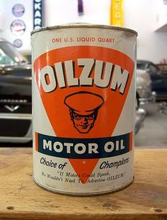 Oilzum Motor Oil - by Robert Mars Oil sold exclusively at  LANDRINE AUTO ELECTRIC, Englewood NJ