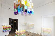 "Emanuelle Moureaux, ""Shikiri / see beyond colors"", Palazzo Bembo San Marco. Photo Nils Koenning"