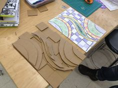 what is going on in Art Currently we are looking at the work and style of Rex Ray. If you are not familiar, Rex Ray is an artist/gr. Sculpture Lessons, Sculpture Projects, Sculpture Ideas, Sculpture Techniques, Cardboard Sculpture, Cardboard Art, Cardboard Relief, Art Doodle, Intro To Art