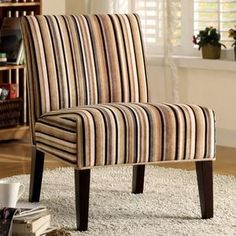 Brody Fabric Accent Chair - Strip