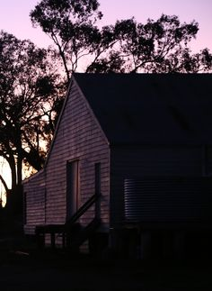 Sunset at Sunrise Station Woolshed