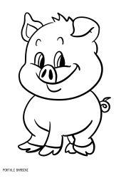 Disegni di unicorni e unicorni kawaii da colorare for Maialino disegno per bambini