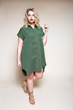 Closet Case Files Kalle Shirt & Shirtdress Pattern - The Confident Stitch Chambray, Simple Dresses, Nice Dresses, Shirt Dress Pattern, Kaftan Pattern, Jumpsuit Pattern, Dress Making Patterns, Stylish Shirts, Diy Dress