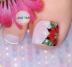 Acrylic Nail Designs, Nail Art Designs, Acrylic Nails, Cute Toes, Pretty Toes, Toe Nail Art, Toe Nails, Nail Salon Design, Pedicure Designs