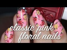 Lacquerstyle.com: #WNAC2015 - August / Summer: Classic Pink Floral Nails (+ Tutorial!)