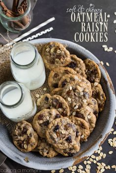 I could not stop eating these oatmeal raisin cookies! So soft and chewy, with plenty of sweet, plump raisins and warm cinnamon.