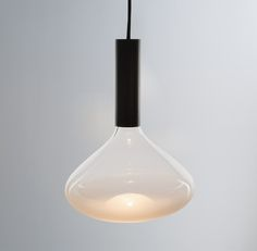 """Dune"" pendant with hidden light source to reflect on a sandblasted lampshade/ isabel-hamm-licht"