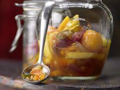 Tropisches scharfes Chutney - smarter - mit Physalis und Papaya. Kalorien: 33 kcal | Zeit: 50 min. #vegan #rezepte #recipes