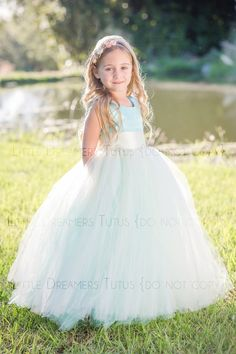 688b0f23dd NEW The Juliet Dress in Aqua Blue and Ivory Flower Girl Flower Girl Tutu