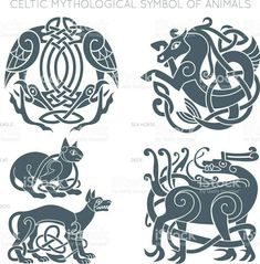 Viking Tattoos Discover Ancient celtic mythological symbol of animals. Stock Illustration : Ancient celtic mythological symbol of animals. Celtic Mythology, Celtic Symbols, Celtic Art, Ancient Symbols, Mayan Symbols, Egyptian Symbols, Celtic Knots, Art Viking, Viking Runes