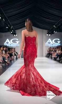 This beaded 'Lauren' lace mermaid turned heads at the Adelaide Fashion festival 2015