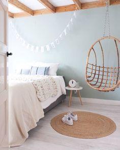unique bedroom design and decor ideas you will love it 38 Pastel Bedroom, Bedroom Green, Home Bedroom, Bedroom Decor, Pastel Room Decor, Scandi Bedroom, Bedroom Inspo, Bedroom Ideas, Best Bedroom Paint Colors