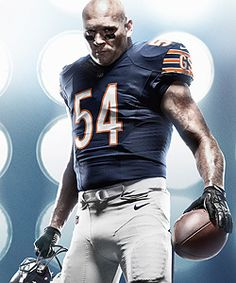 Brian Urlacher- He is still my favorite linebacker of the Chicago Bears and Brian Urlacher still my favorite player ! Go Bears !