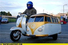 CANT YOU JUST SEE US TRAVELING AROUND CAMBRIA IN THIS LITTLE DARLING?!