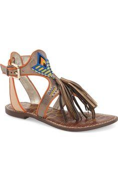 Sam Edelman 'Giblin' Fringe Sandal (Women) available at #Nordstrom