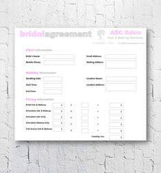 wedding hair and makeup invoice sample - Google Search | All about ...