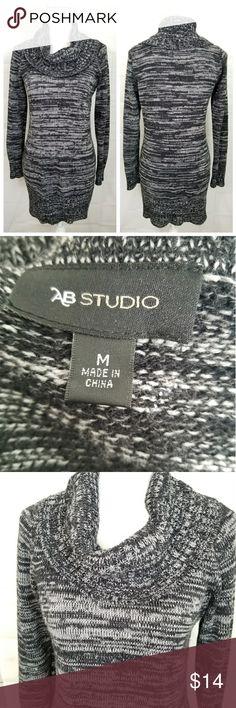 Cowl neck sweater dress long sleeve Sz M Cowl neck sweater dress long sleeve Sz M prelove great condition AB Studio Dresses Long Sleeve