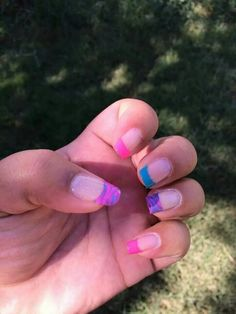 Pink purple blue tip