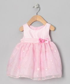 Take a look at this Pink Sequin Floral Dress - Infant, Toddler & Girls by Caldore on #zulily today!