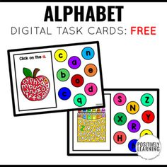 "Alphabet Uppercase and Lowercase Letters - Have fun with this FREE deck! This is the perfect ""first"" Boom Cards deck to try out with your students. There is only ONE correct answer to each alphabet card. Alphabet Boom Deck - 52 Task Cards:26 Uppercase Letters Cards 26 Lowercase Letters Cards Alpha..."