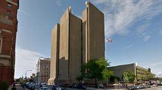 Buffalo City Court Building - 1974, by Pfohl, Roberts and Biggie - #architecture #googlestreetview #googlemaps #googlestreet #usa #buffalo #brutalism #modernism