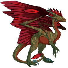 SomeRandomPillow's dragon Crimson - Breed, raise, and train dragons on Flight Rising! Flight Rising, How To Train Dragon, Dragons, Rooster, Games, Animals, Animales, Animaux, Gaming