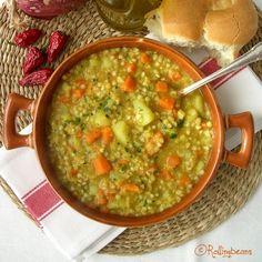 Zuppa grano saraceno e lenticchie rosse