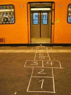 #Street #Art #StreetArt #UrbanArt   subway city art