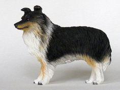 SHETLAND SHEEP DOG Sheltie Tri color figurine resin new DF20B  $13.94