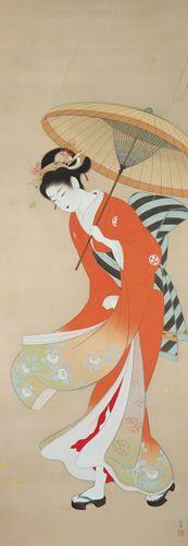 上村松園 Shoen Uemura 『志ぐれ』(1936)水野美術館蔵
