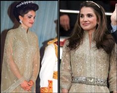 Queen Rania of Jordan worn this Elie Saab dress in the king's corontion ceromany and worn the same dress 10 years later in the king's coronation 10-year's anniversary.