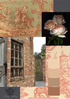 Rust a perfect palette - French window grate - gorgeous toile