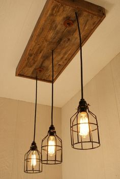 Cage Light Chandelier Cage Lighting Edison by #industrial design