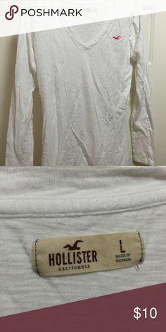 White long sleeve shirt White long sleeve Hollister top Hollister Tops Tees - Long Sleeve