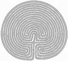 Troy Farm Labyrinth, Somerton, Oxfordshire, England. A 15 circuit design.