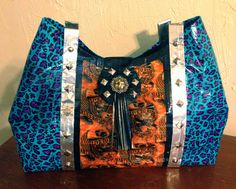 New Harley Davidson duct tape purse. Born to be wild and loaded with chrome!