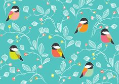 turquoise-floral-bird-illustration-print