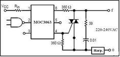 MOC3063 Pin Description