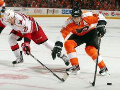 Carolina Hurricanes vs. Philadelphia Flyers - Photos - February 02, 2013 - ESPN FIRST STAR: #48 Danny Briere, Flyers