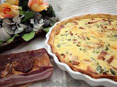 Quiche Lorraine con pancetta provola affumicata e zucchine Molto facile da preparare e da cucinare ottima anche sulla tavola in occasione delle feste.