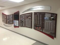 RecognitionArt is the premier provider of donor displays, recognition walls, plaques, signs & more. Start your FREE DESIGN today! Glass Signage, Donor Wall, Corian, Plexus Products, Exhibit, Wall Design, Free Design, Fundraising, Police