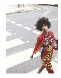 "Georgie Badiel in ""imprinting afro"" for io donna 10th March 2012. photographer: lydia gorges and jens schmidt, stylist: jane howard, hair: paul merritt and make-up: maria comparetto."