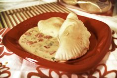 Baked Chicken Empanadas with Queso Dip