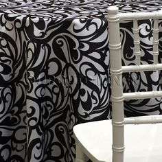 Abstract (Pucci) Tablecloth - Black / White