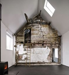 Croft Lodge Studio is part new built and part conservation project of a 300-year-old relic