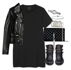 """""""Untitled #5185"""" by theeuropeancloset on Polyvore featuring Monki, Yves Saint Laurent, H&M and MICHAEL Michael Kors"""