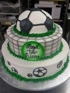 Soccer Bar Mitzvah Cake.