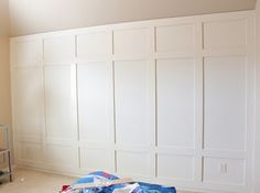 so cute to dress up a crafts room or bedroom wall. love this molding